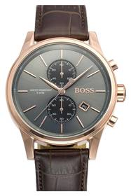 BOSS Jet Sport Chronograph Leather Strap Watch