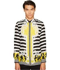 Versace Collection Silk Striped Button Down