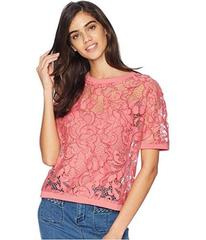 Juicy Couture Soft Woven Hibiscus Lace Top