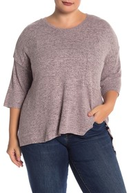 Philosophy Apparel Heathered Dolman Knit Pullover