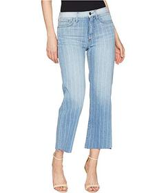 Sam Edelman The Chelsea Crop in Indigo Stripe