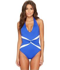 LAUREN Ralph Lauren Beach Club Plunge Twist Halter