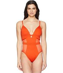 Kenneth Cole Sexy Solids Push-Up Mio One-Piece