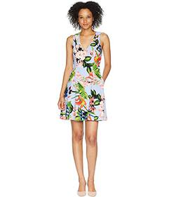 Vince Camuto Printed Scuba Crepe Fit and Flare Dre