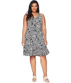 KARI LYN Plus Size Greer Printed Dress with Croche