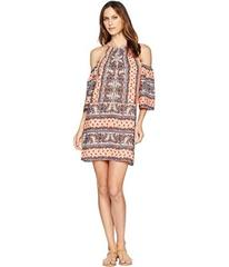 Wrangler Patterned Cold Shoulder Dress