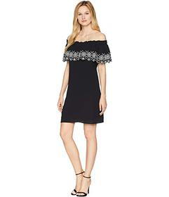 CeCe Tenley - Off the Shoulder Embroidered Dress