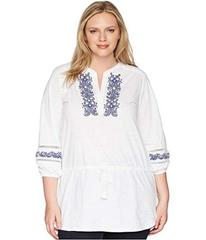 LAUREN Ralph Lauren Plus Size Embroidered Cotton T
