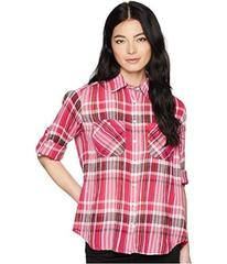 LAUREN Ralph Lauren Petite Plaid Cotton Long Sleev