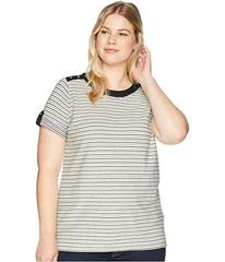 LAUREN Ralph Lauren Plus Size Striped Button-Shoul