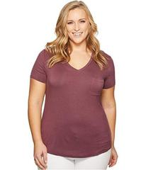 KARI LYN Plus Size Lucy Short Sleeve Pocketed Tee