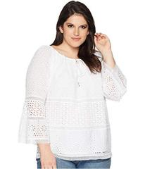 LAUREN Ralph Lauren Plus Size Eyelet Lace Cotton T
