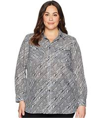 LAUREN Ralph Lauren Plus Size Silk Cotton Voile Lo