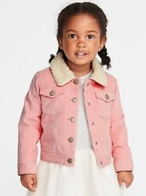 Sherpa-Lined Corduroy Trucker Jacket for Toddler G