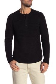 MICHAEL BASTIAN Textured Henley Sweater