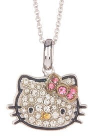 Hello Kitty Hello Kitty Sterling Silver Pave Cryst