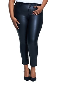 Seven7 High Rise Coated Ponte Skinny Pants (Plus S