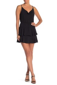 BCBGeneration Cowl Neck Ruffle Dress