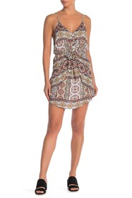 BCBGeneration Printed Front Tie Dress