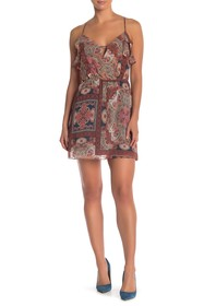 BCBGeneration Ruffle Printed Mini Dress