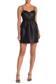 BCBGeneration Sweetheart Textured Cocktail Dress