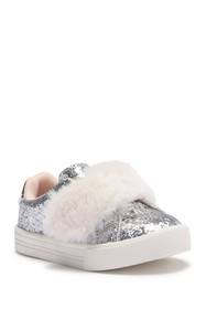 OshKosh Blanche Glitter Faux Fur Sneaker (Toddler