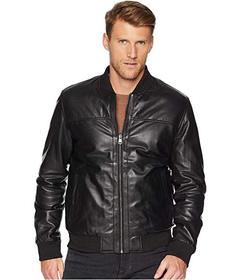 Cole Haan Leather Reversible Varsity Jacket