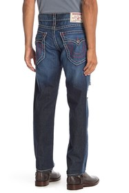 True Religion Slim Flap Pocket Ripped Jeans