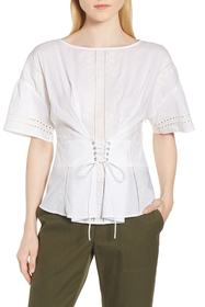 Nordstrom Signature Lace-Up Eyelet Top