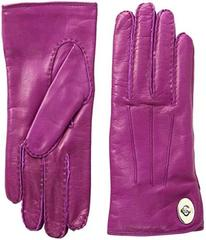 COACH Leather Turnlock Gloves