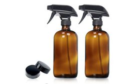 Refillable Empty Amber Glass Spray Bottles For Ess