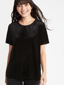 Relaxed Velvet Tee for Women