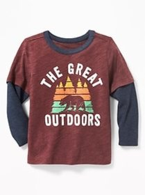 2-in-1 Graphic Tee for Toddler Boys