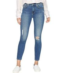 7 For All Mankind High-Waisted Ankle Skinny w/ Des