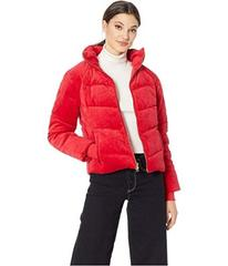 Juicy Couture Track Velour Solid Quilted Puffer Ja