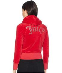 Juicy Couture Cropped Velour Jacket with Gothic Lo