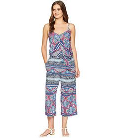 Tommy Bahama Riviera Tile Crop Jumpsuit Cover-Up