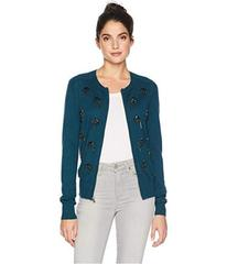 Juicy Couture Embellished Crystal Paisley Cardigan