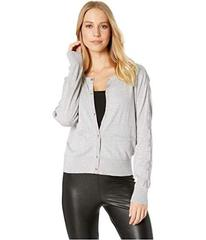 Juicy Couture Soft Woven Cardigan w/ Velvet Trim