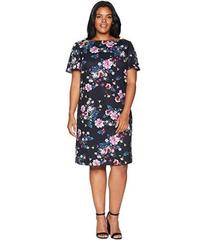 Tahari by ASL Plus Size Short Sleeve Shift Floral