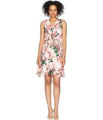 Calvin Klein V-Neck Floral Dress with Tie Front CD