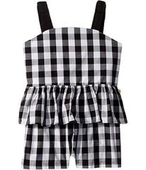 Kate Spade New York Gingham Romper (Big Kids)