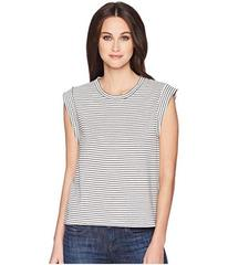 Vince Classic Stripe Rolled Sleeve Tank Top