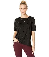 Juicy Couture Knit Dome Stud Embroidered Tee