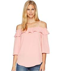 Wrangler Off the Shoulder Top with Straps & Ruffle