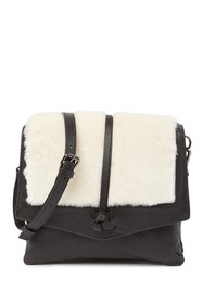 Kooba Yukon Leather & Genuine Shearling Crossbody