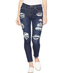 Juicy Couture Denim Rip and Repair Crystal Embelli