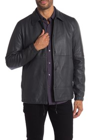 Theory Snap Button Leather Jacket