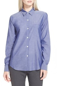 Theory Perfect Front Button Blouse