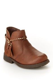 OshKosh Khari Braided Tassel Ankle Bootie (Toddler
